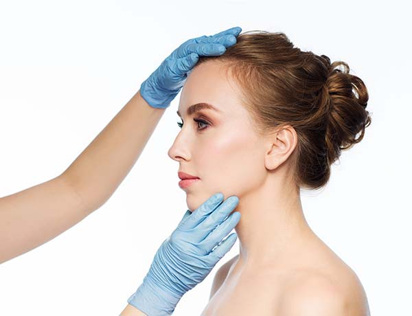 Women's nose correction surgery