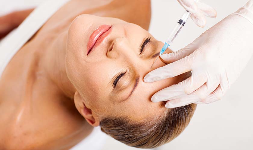 Undergoing Botox treatment